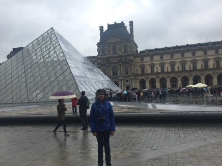Me at the entrance to the Louvre