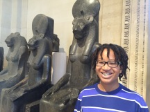 Me with the statue of Sekhmet